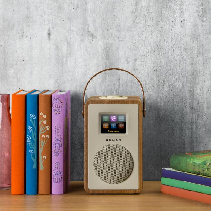 Mini Two design-internetradio wifi DLNA bluetooth DAB/DAB+ FM pähkinä
