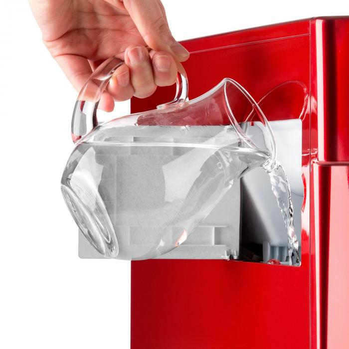 Ice Volcano 2GR Ice Cube Machine LED 12kg every 24h 2l 6-10min Red