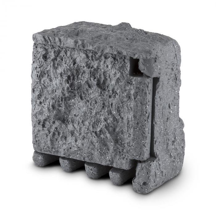 Power Rock Gartensteckdose 4-fach Verteiler 1,5m Steckdosenstein Fels