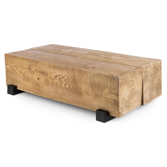 Blockhouse Lounge Balkentisch Gartentisch Timber Table 120x30x60 Cm