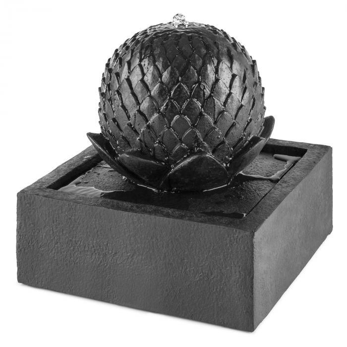 Zen Garden Fuente ornamental Fuente solar Fuente de jardín 2W Solar Diseño de basalto
