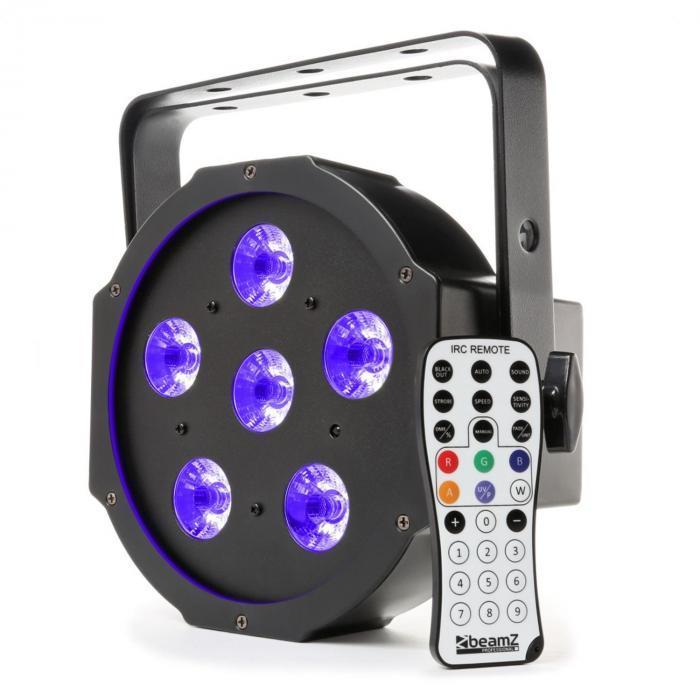 BFP130 FlatPAR Faretto LED 6 in 1 Telecomando DMX IR