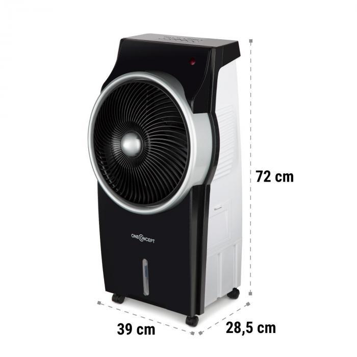 Kingcool Air Cooler Fan Ioniser Black / Silver