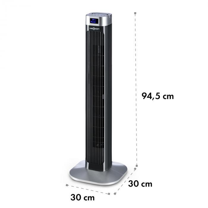 Hightower 2G Ventilatore Colonna 50W Timer Nero