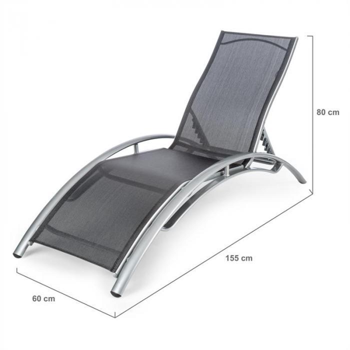 Intermezzo Sdraio Alluminio 5 cm Imbottitura PU grigio/crema