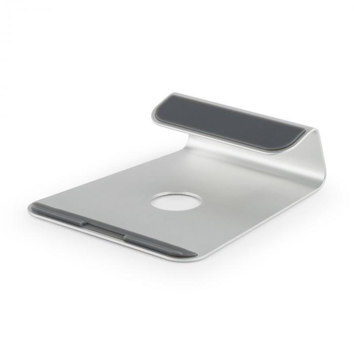 A-ST-1 laptophouder notebookstandaard 18° aluminium zilver