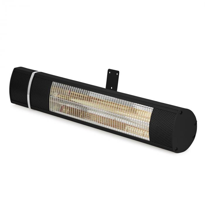Gold Bar 2000 Infrared Radiant Heater 2000 W Gold Tube IP65 Black