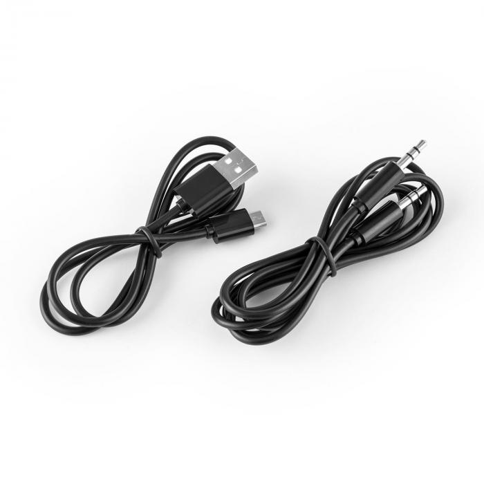 Elegance Bluetooth-NFC-Hörlurar aptX batteri Högtalartelefon konstläder svart