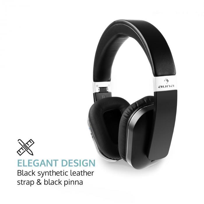 Elegance ANC Bluetooth-NFC-Kopfhörer Freisprech Geräuschdämpfung schwarz