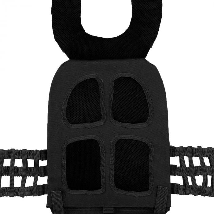 Battlevest Giubbotto Pesi con 2 x 2 Pesi 5.75 & 8.75 lbs Nero