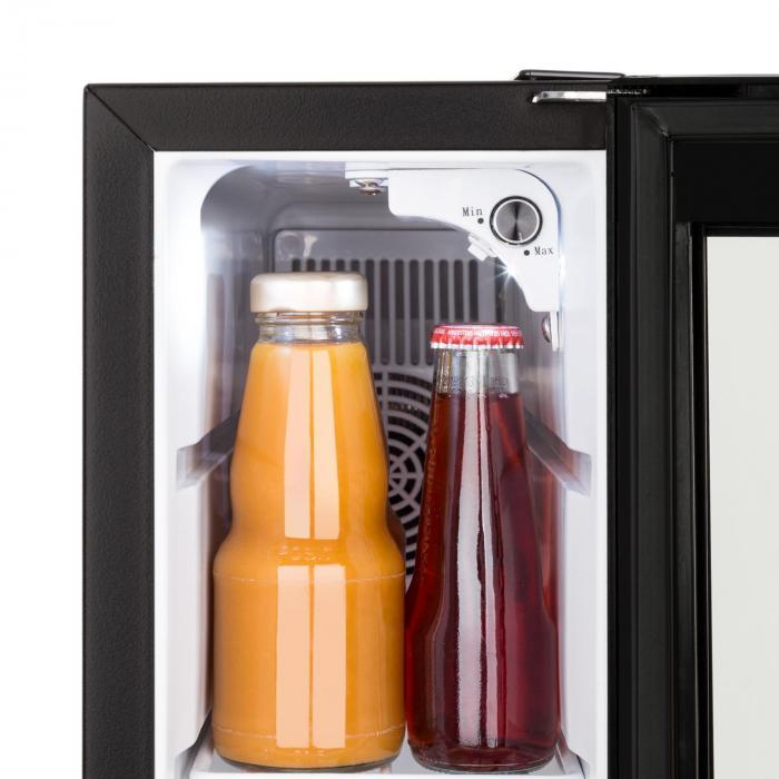 Frosty 13L Frigorifero per Vini 8-18°C Porta in Vetro 35dB Compatto nero