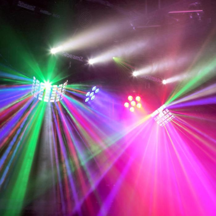 ShowBar 2x PAR 2x butterfly R/G-laservalot sis.