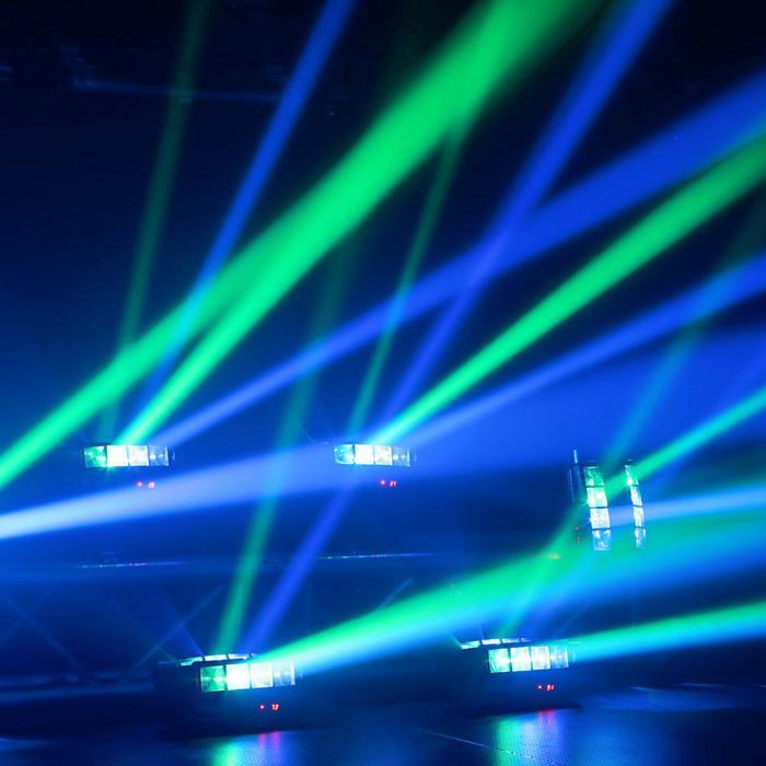 MHL820 Doppia Elica 8 x LED RGBW 3 W Telecomando IR DMX