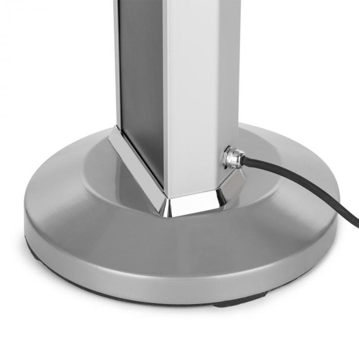Heat Guru lämmitin 2000W 3 lämmitystehoa kaukosäädin hopea