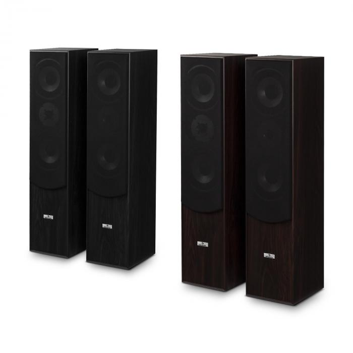 L766 3-Way Bass Reflex HiFi Speaker Pair Walnut