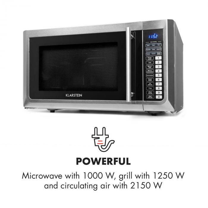 brilliance pro mikrowelle 43 liter grill umluft touchpanel edelstahl online kaufen. Black Bedroom Furniture Sets. Home Design Ideas
