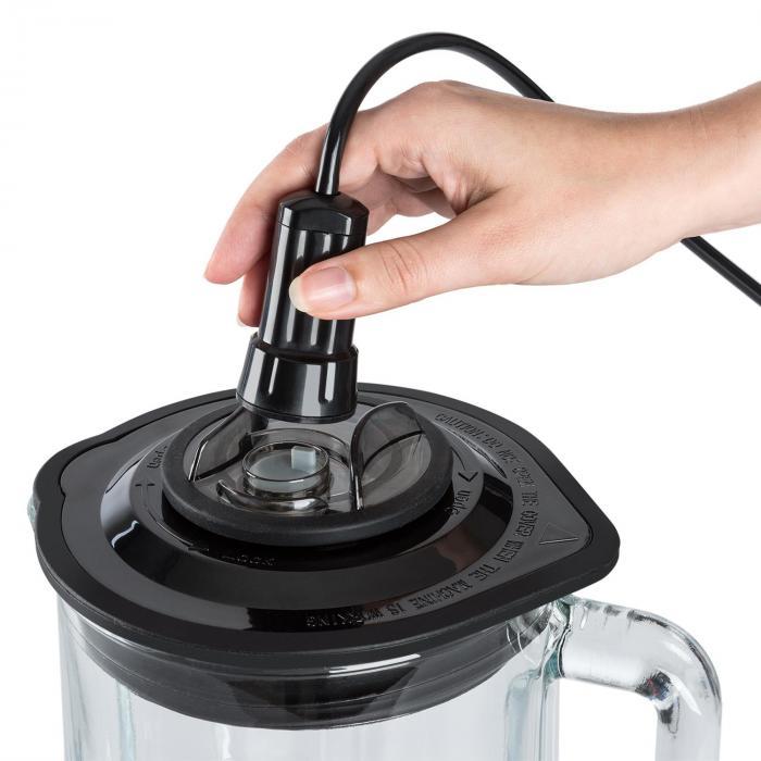 Airakles vakuumitehosekoitin 1500 W 30 000 rpm 1,5 l lasikannu musta