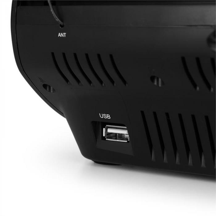 Dreamee USB CD radio despertador USB CD MP3 negro
