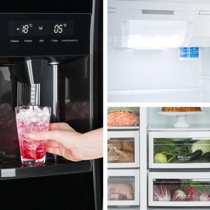 Grand Host XXL Kühlschrank 550 Liter Eis- und Wasserspender A+ ...