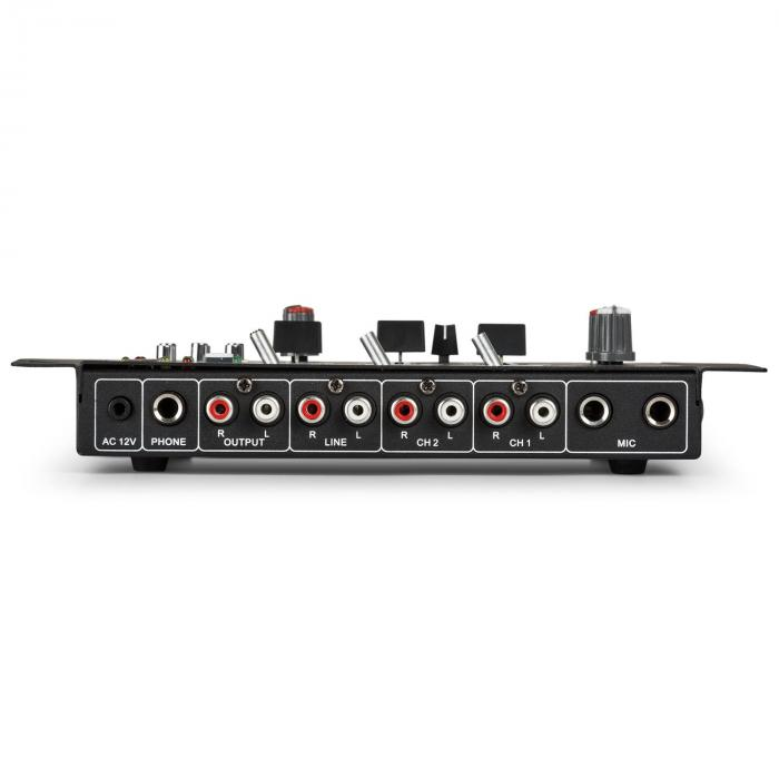 SPL700EQ Amplifier Set with 2 Speakers Mixing Console BT