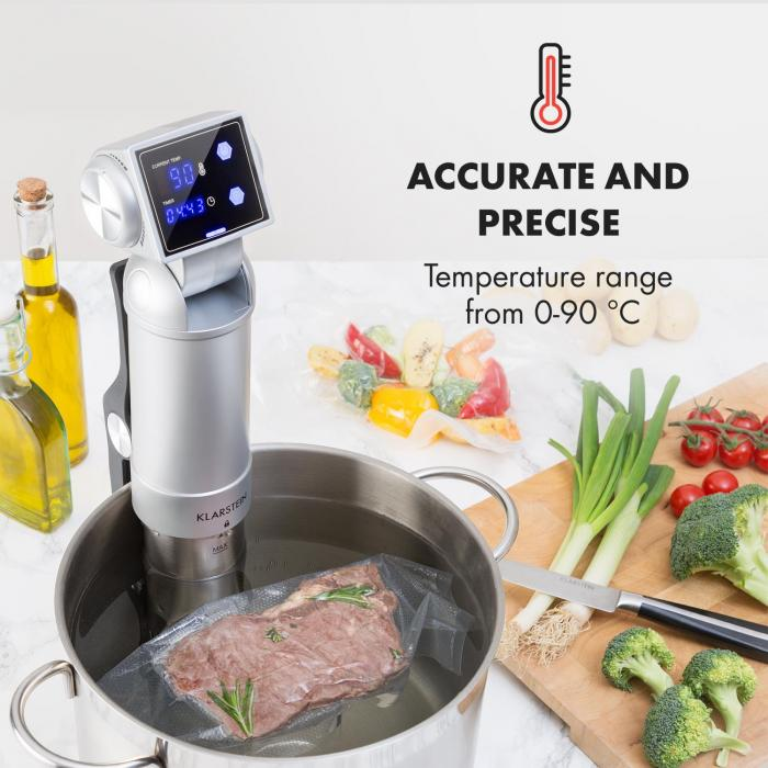 Quickstick Pro Sous  Vide Pump 3D Streamline  Heating 0-90 °C Silver