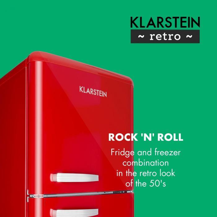 Audrey Retro Fridge-Freezer Combination 194/56 Liter A++ red