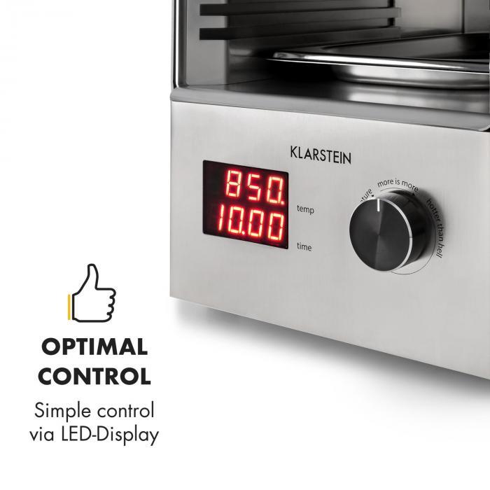 Steakreaktor 2.0 - Edizione Acciaio Inox - Griglia Indoor 1600W 850°C Made in Germany