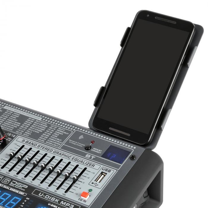 PDM-S804 8-Kanal-Mischpult DSP/MP3, USB-Port, BT-Empfänger