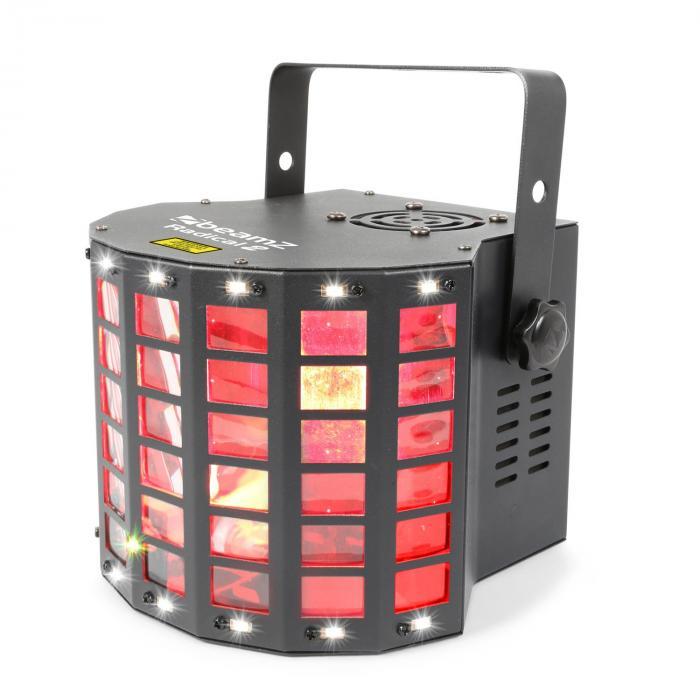 Radical 2 3in1-efekti 4x 3W RGBW LEDit laser punainen/vihreä 4 DMX-kanavaa