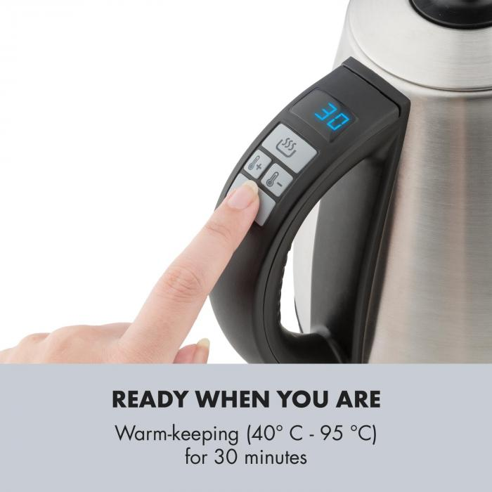 Garcon Bollitore 1L 2000W Mantenimento Temperatura Collo di Cigno Acciaio Inox