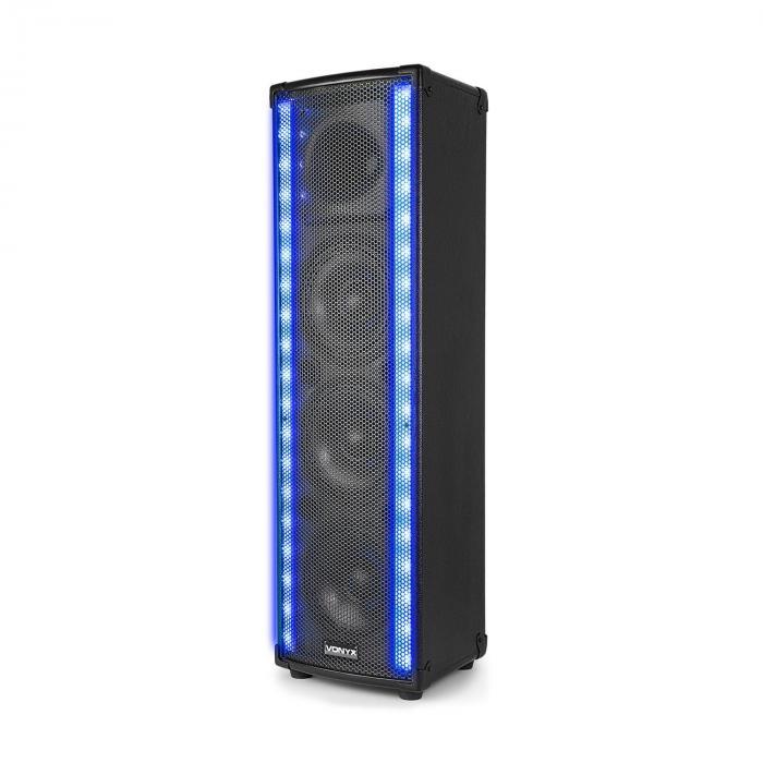 LM65 PA Altavoz Bluetooth 5 Modos de iluminación 400W Negro