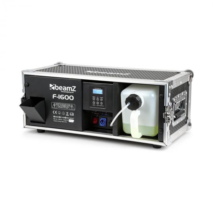 F1600, wytwornica mgły w skrzyni transportowej, 350 m3, DMX, Master/Slave, 1600 W