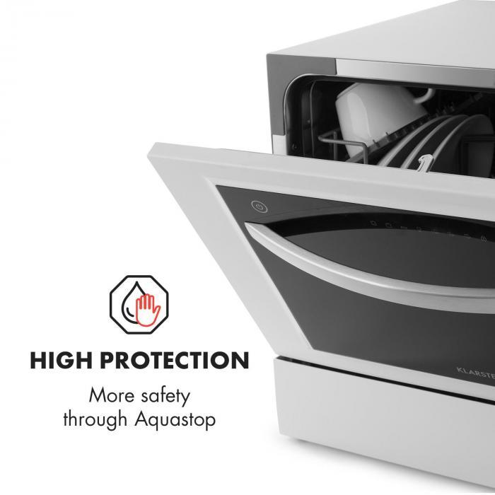 Amazonia 6 Luminance Dishwasher Glass Front Freestanding 1380W White