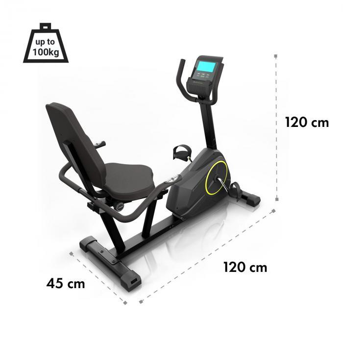 Epsylon Relax kuntopyörä 12 kg vauhtipyörä PulseControl musta