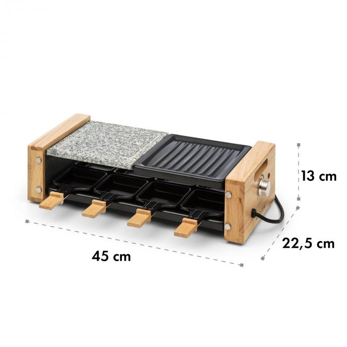 Chateaubriand Nuovo Raclette 1200W Aluminium / Stone 8 People