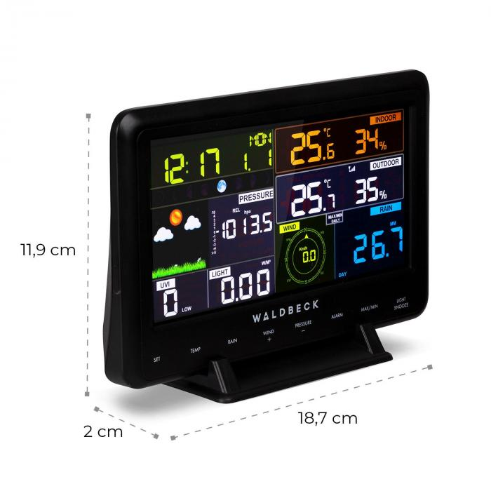 Huygens Professional Weather Station, 6-in-1, Colour Display, WiFi, App