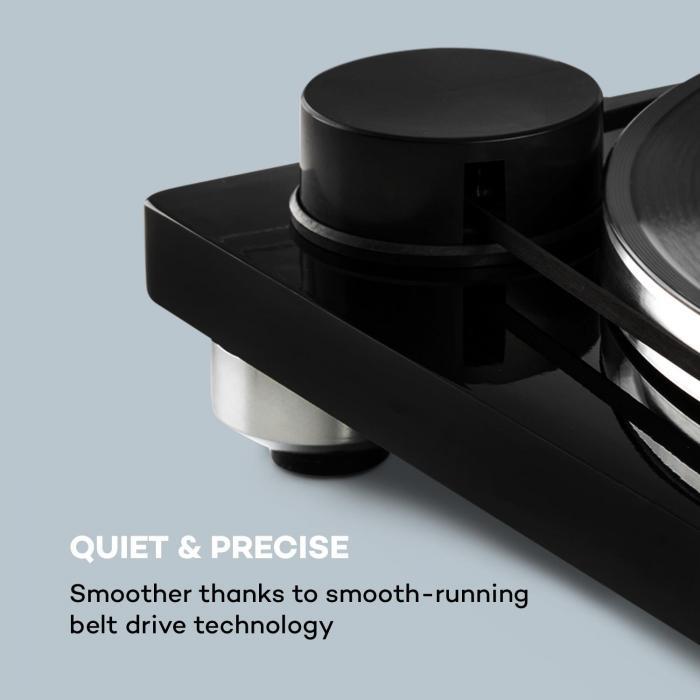 Pure Precision platenspeler riemaandrijving 33 1/3 & 45 tpm zwart