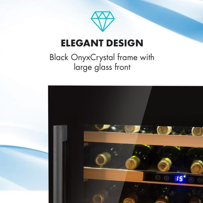 Vinsider 24 Onyx Edition Weinkühlschrank Einbaugerät Energieklasse B