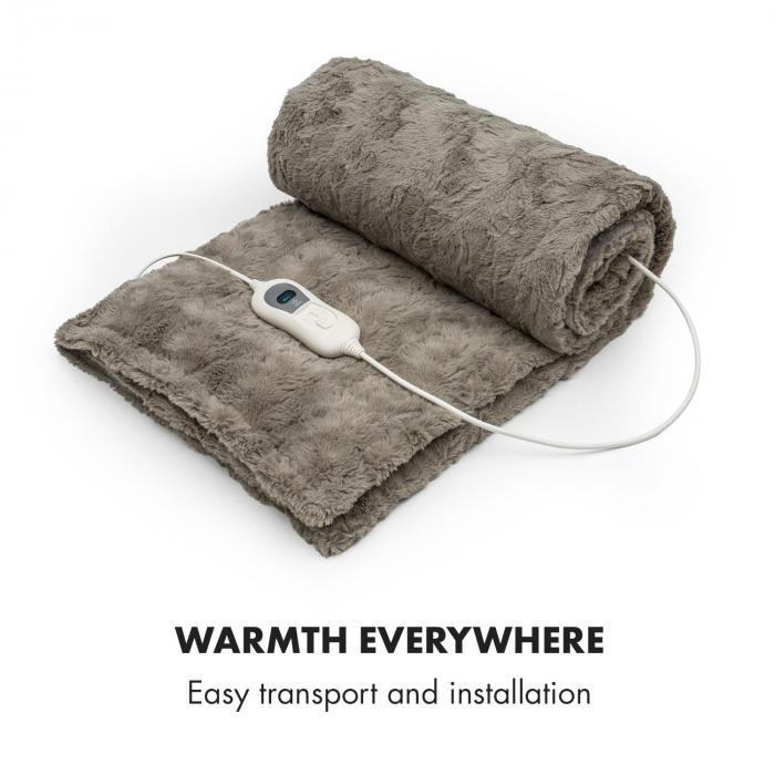 Dr. Watson Comfort & Style Electric Blanket 120W 180x130cm Faux Fur Beige