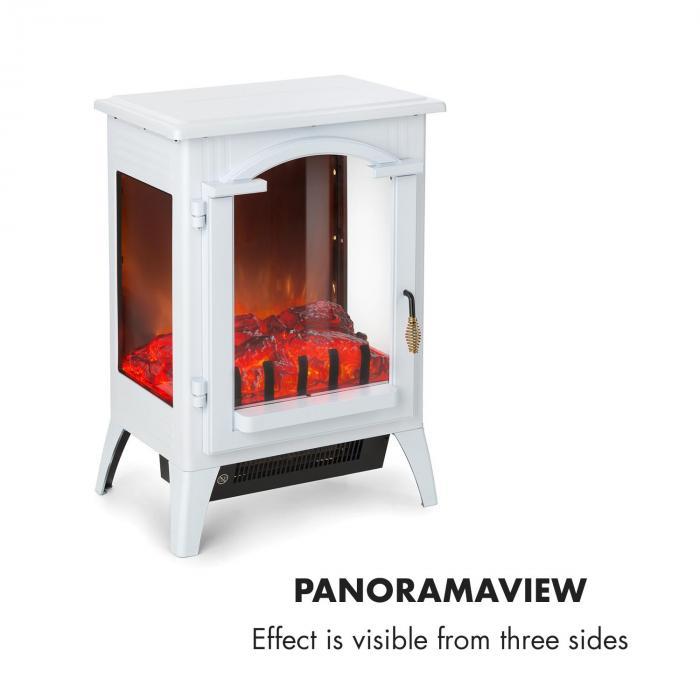 Graz sähkötakka 1000/2000 W termostaatti PanoramaView valkoinen