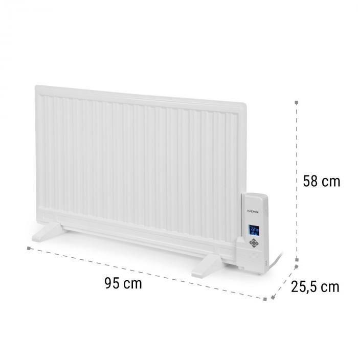 Wallander Radiador de aceite 800 W Termostato Calefacción de aceite Ultraplana Blanco