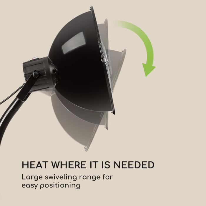 Heatbell Tower lämmitin 1500 W IP24 hiilivastus musta