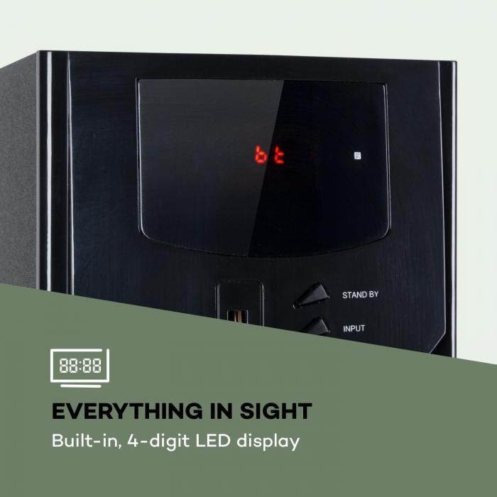 Areal Nobility 5.1-kanavainen surround-järjestelmä 120 W RMS bluetooth 3.0 USB SD AUX