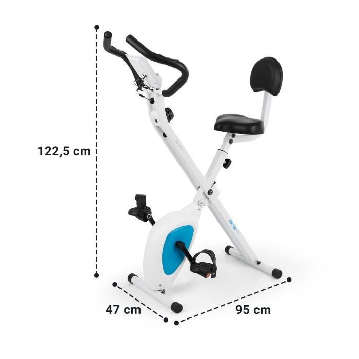 X-Bike XBK700 Pro Bicycle Exercise Bike Ergometer Heart Rate Monitor Foldable White