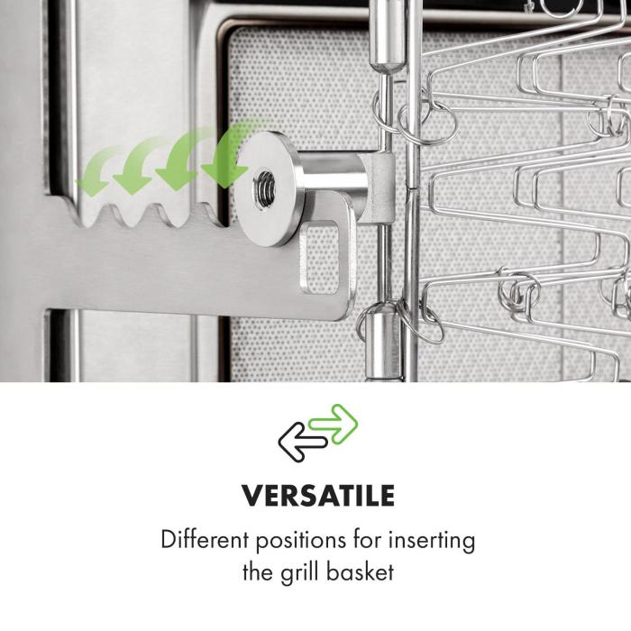Crossfire Vertikaler Gasgrill 800°C Infrarot-Brenner 12.000 BTU silber