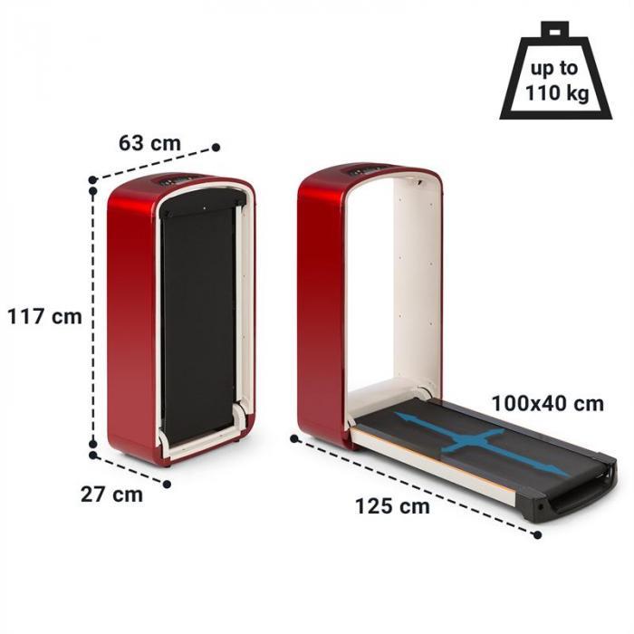 Runtasy SE Laufband Heimtrainer LED-Display Bluetooth klappbar rot