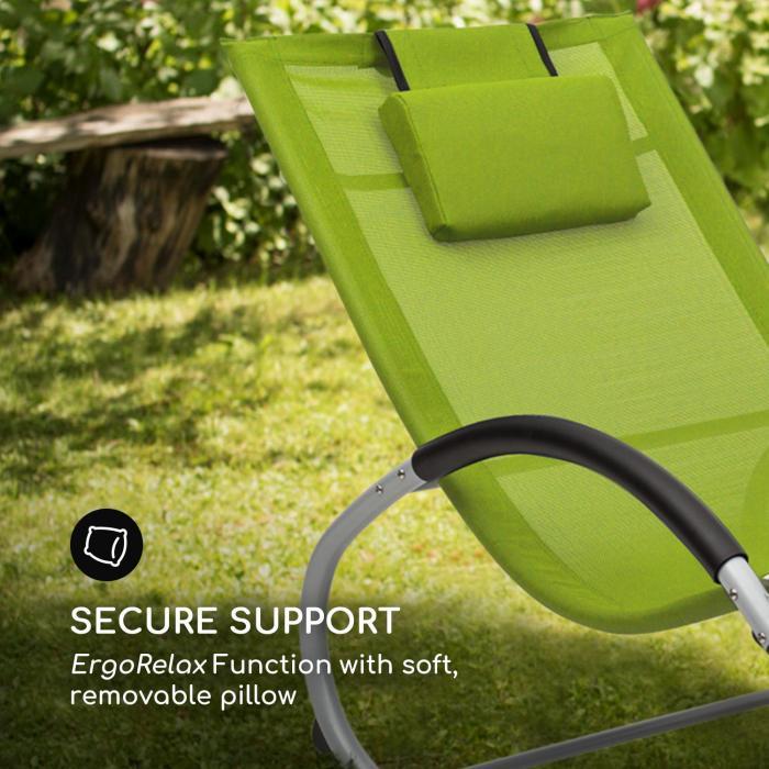Tumbona mecedora Blumfeldt Westwood Rocking Chair verde