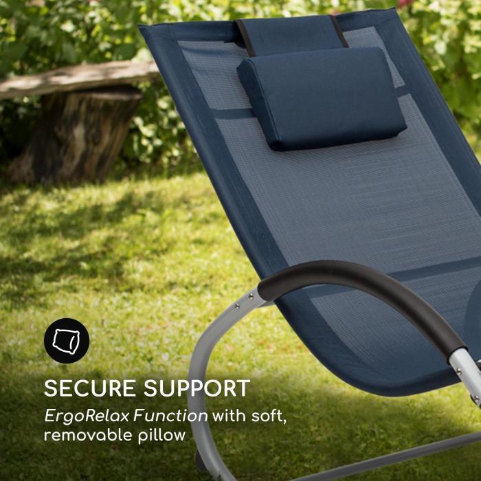 Westwood Rocking Chair Mecedora ergonómica Aluminio Azul oscuro