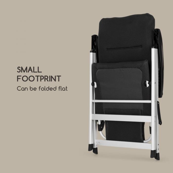 Almagro Garden Chair Stuhl Aluminium Schaumstoffpolster schwarz