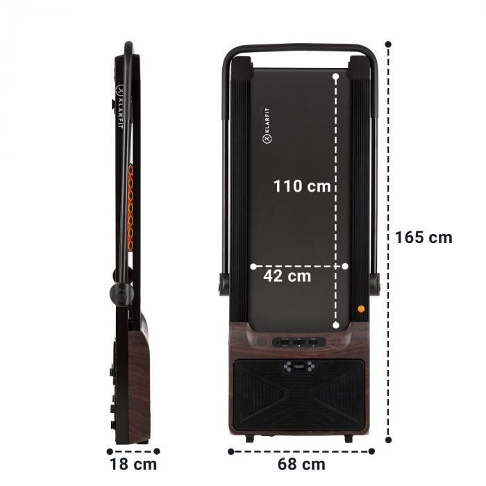 Workspace Fusion Laufband & Vibrationsplatte Bluetooth Holzoptik